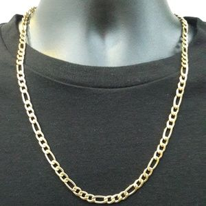 6mm Gold Figaro Chain